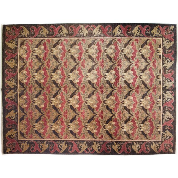 One-of-a-Kind Arts and Crafts Hand-Knotted Brown Area Rug by Darya Rugs