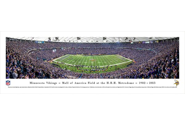 NFL Minnesota Vikings - 50 Yard Line - Finale by Christopher Gjevre Photographic Print by Blakeway Worldwide Panoramas, Inc
