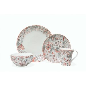 Evangeline 16 Piece Dinnerware Set, Service for 4