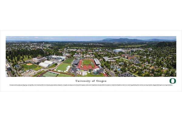 NCAA Oregon, University of - Aerial by James Blakeway Photographic Print by Blakeway Worldwide Panoramas, Inc