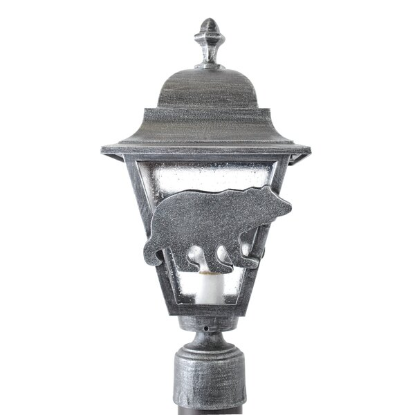 Penfield Bear Series 1 Light 18 Post Lantern by Alcott Hill