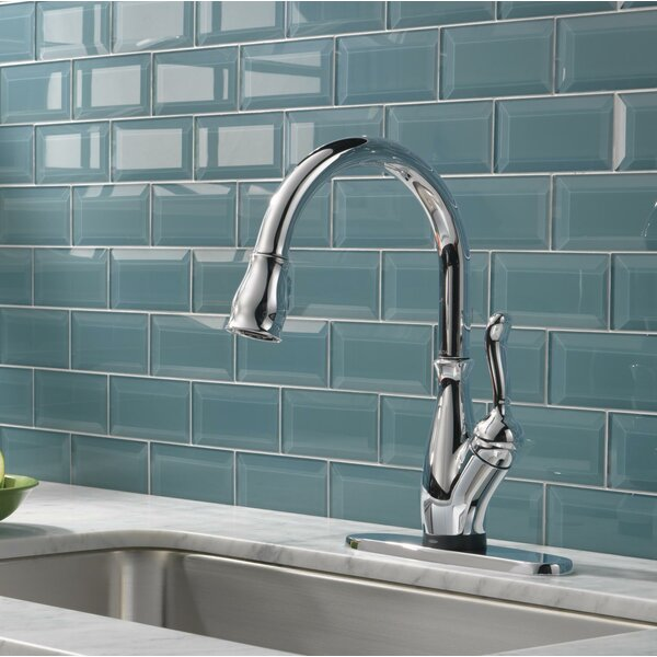 Leland Standard Single Handle Kitchen Faucet with Touch2O® Technology by Delta