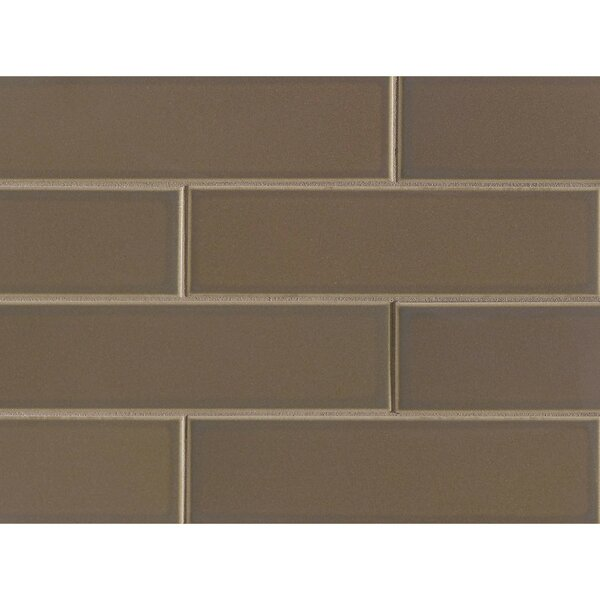 Reverie 2.5 x 9 Porcelain Subway Tile in Brown by Grayson Martin