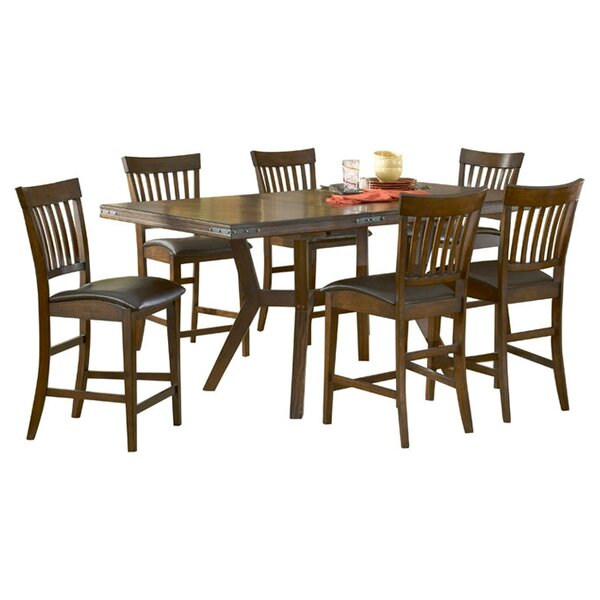 Harkness 7 Piece Counter Height Dining Set by Loon Peak