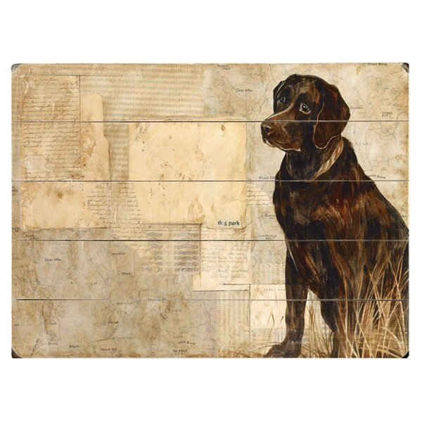 Black Dog Drawing Print Multi-Piece Image on Wood & Canvas by Artehouse LLC