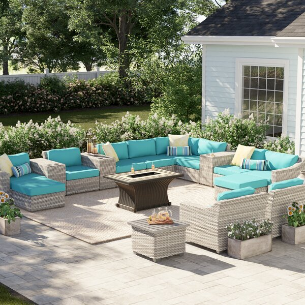 Falmouth 17 Piece Sectional Seating Group with Cushions by Sol 72 Outdoor