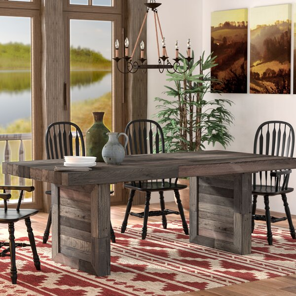 Abbey Solid Wood Dining Table by Mistana