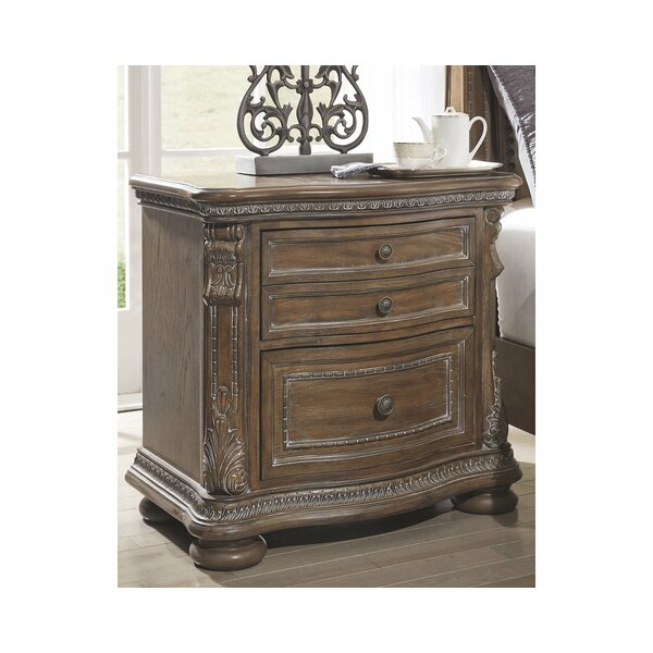 Ouzts 2 Drawer Nightstand by Astoria Grand