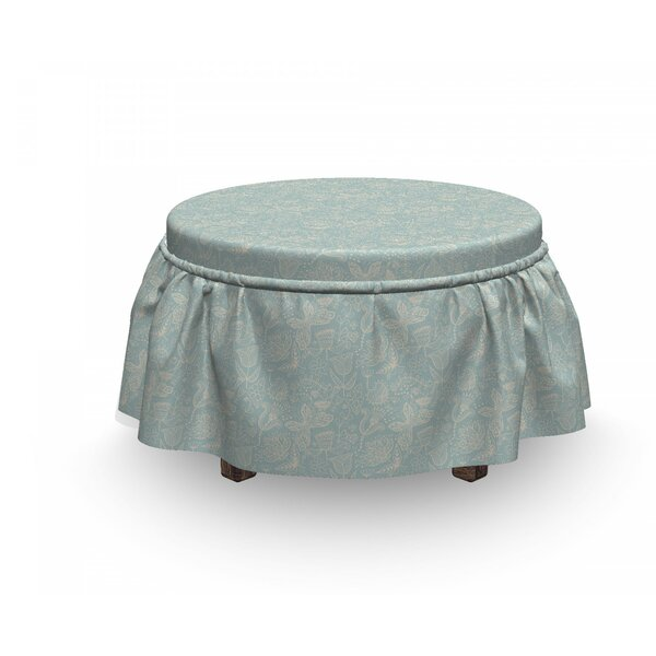 Cheerful Nature Ottoman Slipcover (Set Of 2) By East Urban Home