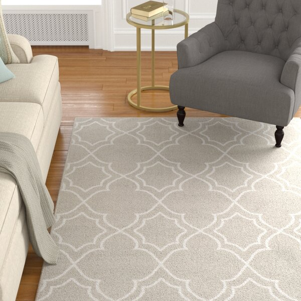 Gilead Trellis Taupe/White Indoor/Outdoor Area Rug by Alcott Hill