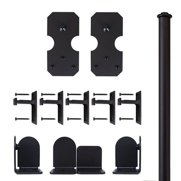 Notched Rectangle Barn Door Hardware Kit by Quiet Glide