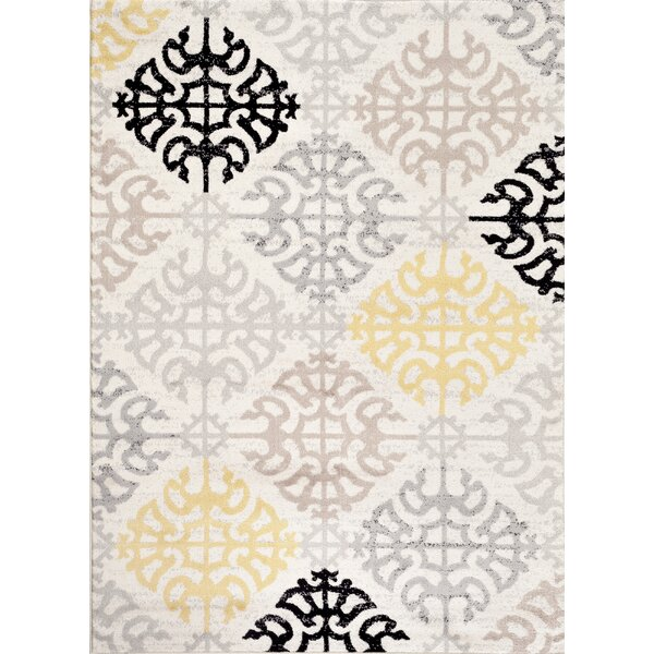 Wabon Gray Area Rug by Andover Mills