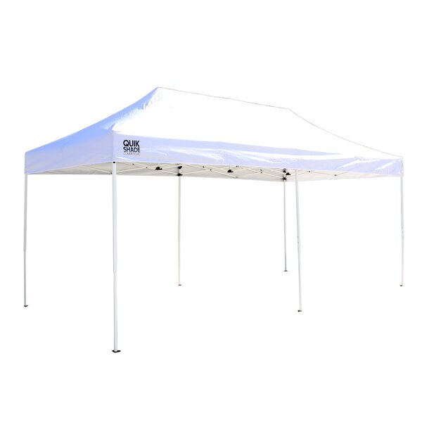10 Ft. W x 20 Ft. D Steel Pop-Up Party Tent by Qui