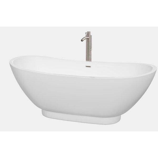 Clara 69 x 29.5 Soaking Bathtub by Wyndham Collection