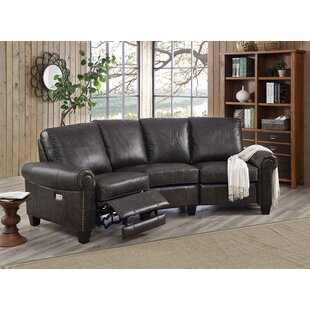 Inexpensive Arlington Leather Reclining Sectional By HYDELINE