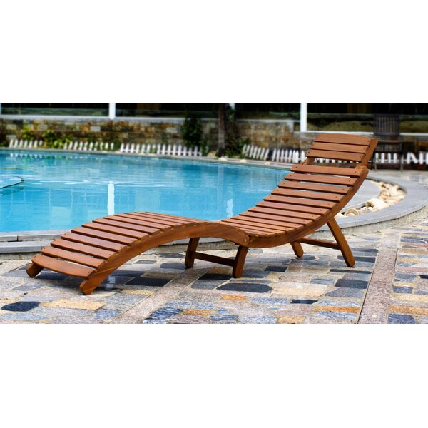 Luiza Curved Folding Chaise Lounge