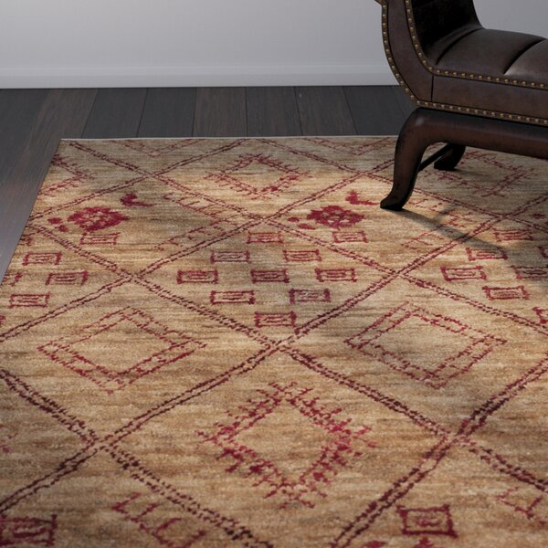 Parisi Hand-Knotted Natural Area Rug by World Menagerie