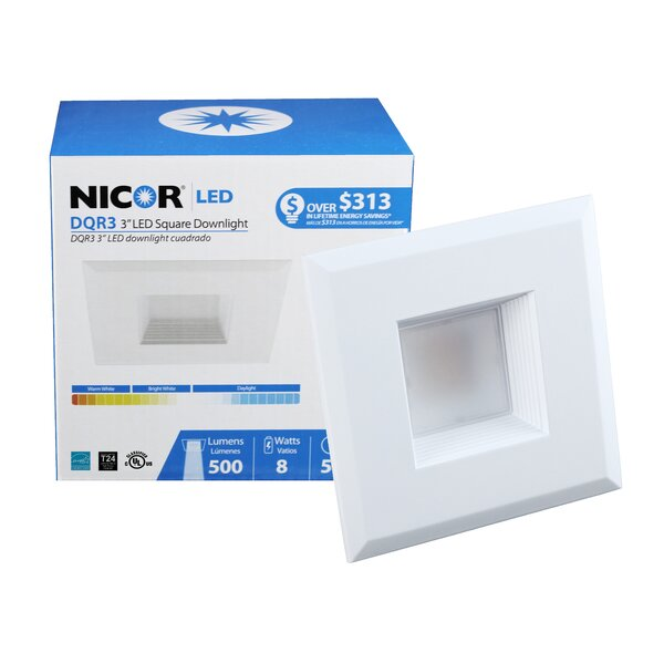 Square LED Recessed Housing by NICOR Lighting