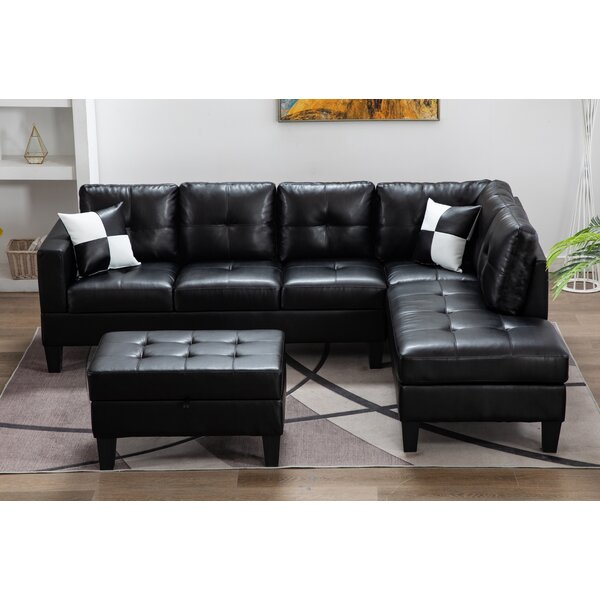 Palfrey Sectional With Ottoman By Ebern Designs