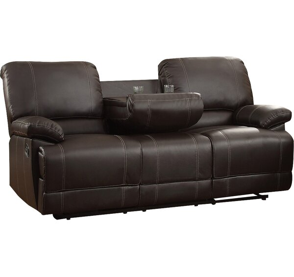 Edgar Double Reclining Sofa by Andover Mills