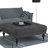 Ahern 41.9 Tufted Square Ottoman by Alcott Hill®