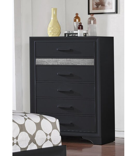 Geist 5 Drawer Chest by Wrought Studio