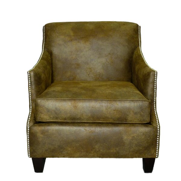 Rice Leather Club Chair by Loon Peak