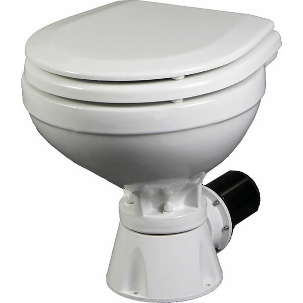 Aqua Jet Compact Silent Electric Marine Round One-Piece Toilet with Touchless Flush by JOHNSON PUMP OF AMERICA INC.
