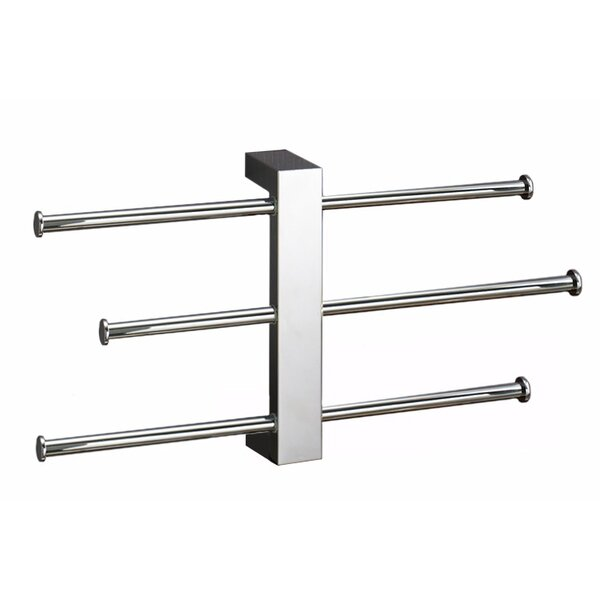Bridge Sliding 3-Tier Wall Mounted Towel Rack by Gedy by Nameeks