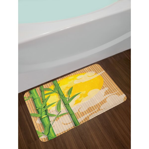 Asian Bamboo Tree Branches Bath Rug by East Urban Home