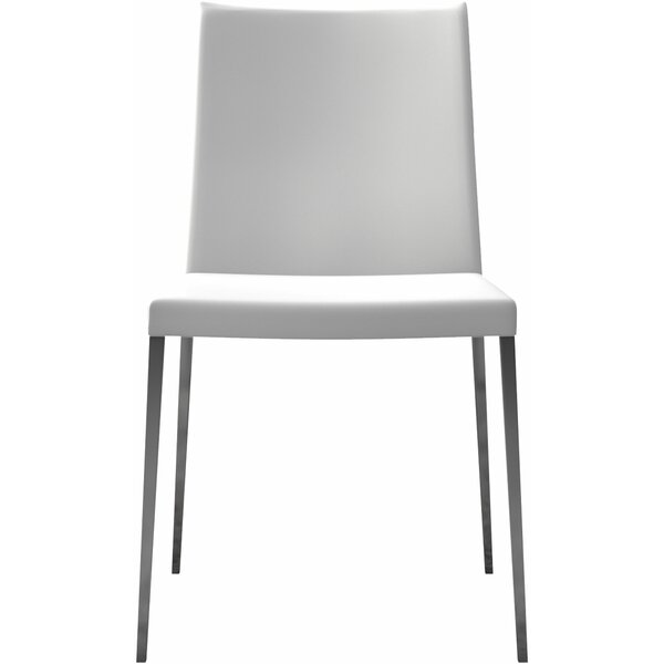 Lau Genuine Leather Upholstered Dining Chair (Set of 2) by Orren Ellis