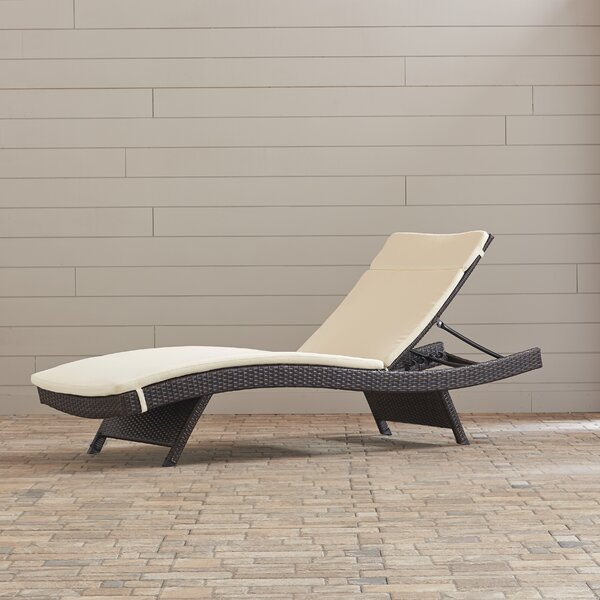 Garry Wicker Reclining Chaise Lounge with Cushion (Set of 2) by Brayden Studio