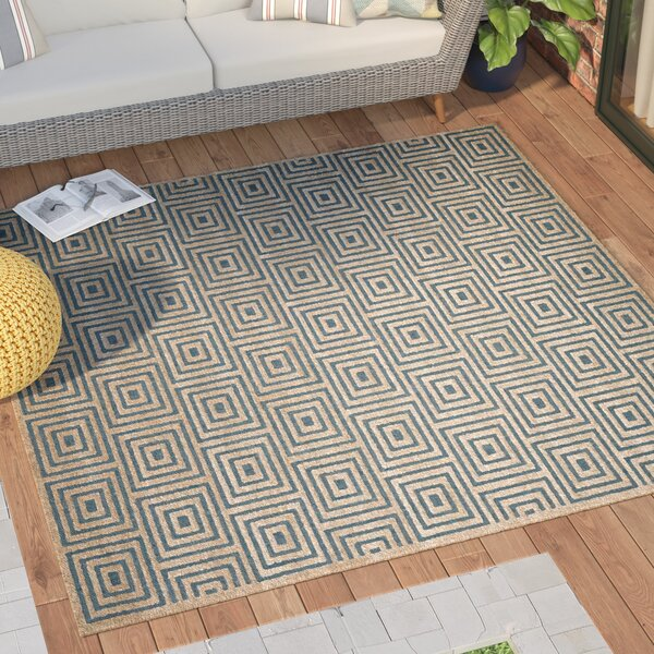 Candor Blue Outdoor Area Rug by George Oliver