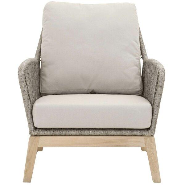 Kiley Teak Patio Chair with Cushion by Mistana Mistana