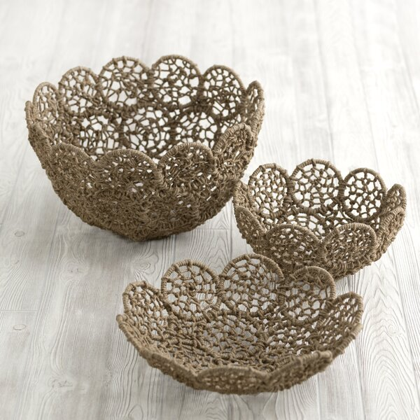 Enedina Macrame Platter by Bungalow Rose