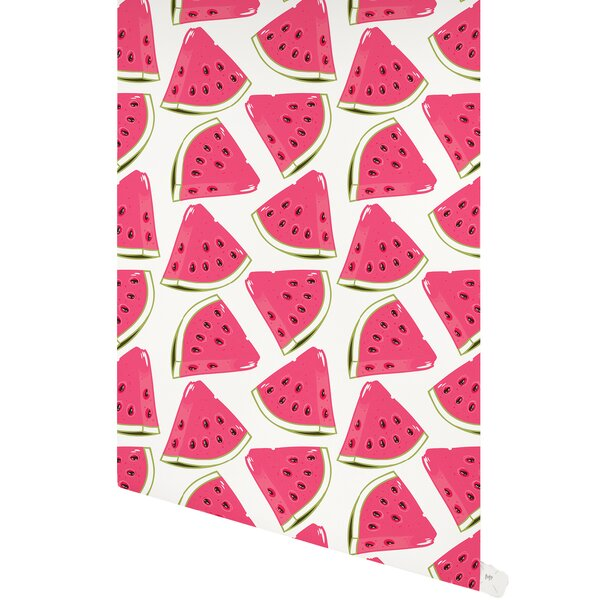 Leflore Water Melon 48 L x 24 W Paintable Peel and Stick Wallpaper Panel by Latitude Run