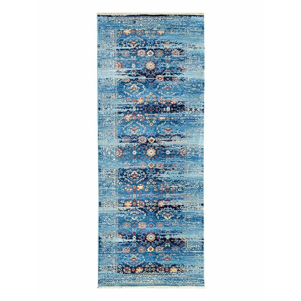 Hartshorn Crossweave Blue Area Rug by Bungalow Rose