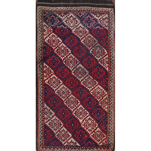 Colegrove Kazak Caucasian Antique Russian Traditional Oriental Hand-Knotted Wool Red/Black/Blue Area Rug by Bloomsbury Market