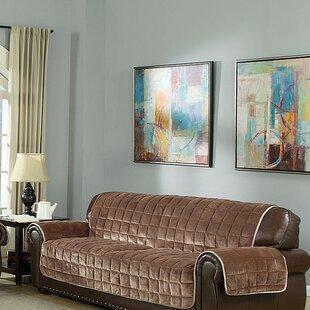 Flannel Box Cushion Sofa Slipcover
