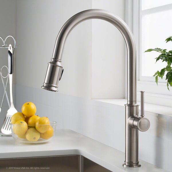 Sellette Pull Down Single Handle Kitchen Faucet by Kraus