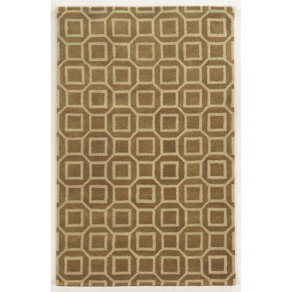 Piombino Hand-Tufted Brown/Beige Area Rug by Meridian Rugmakers