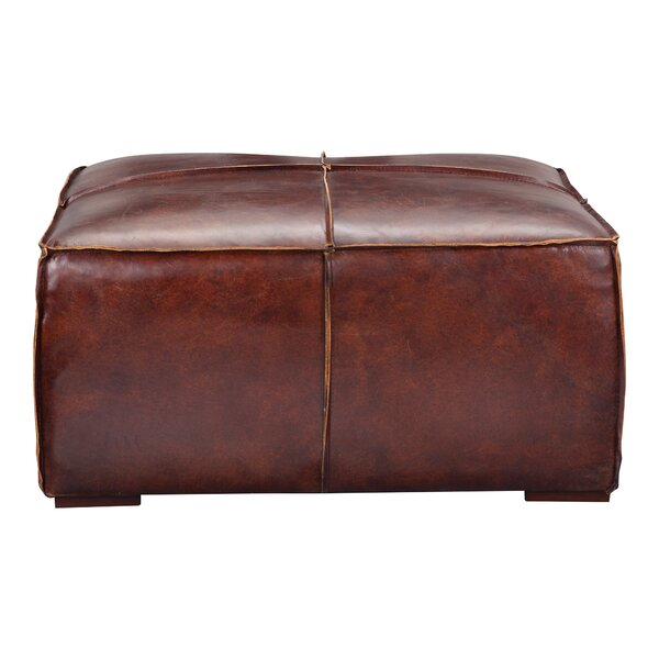 Terrific Modern Contemporary Tan Leather Ottoman Allmodern Ibusinesslaw Wood Chair Design Ideas Ibusinesslaworg