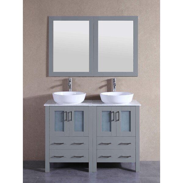 Kingston 47 Double Bathroom Vanity Set with Mirror by Bosconi