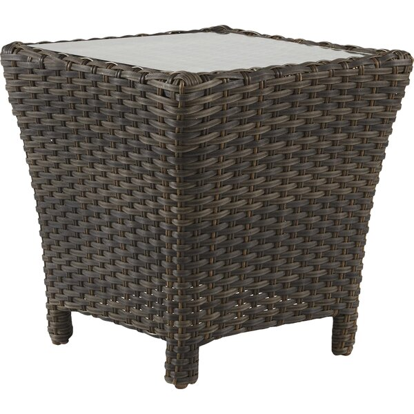Allerone  Glass  Side Table by Bloomsbury Market