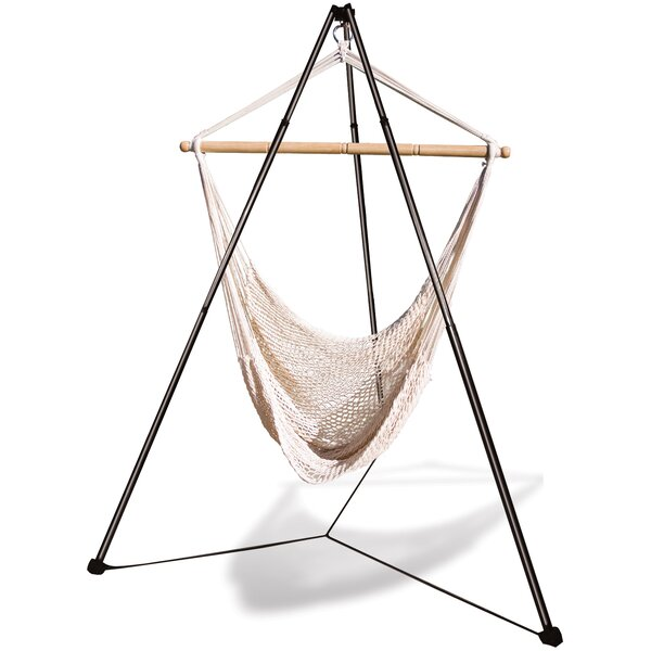 Winchcombe Cotton Chair Hammock with Stand by Freeport Park