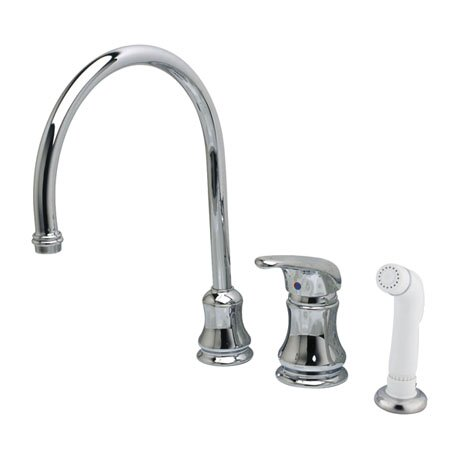 Legacy Single Handle Kitchen Faucet with Side Spray by Kingston Brass Kingston Brass