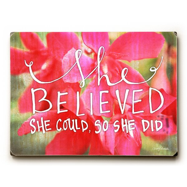 She Believed She Could Graphic Art by Artehouse LLC