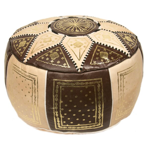 Moroccan Marrakech Leather Pouf by Casablanca Mark