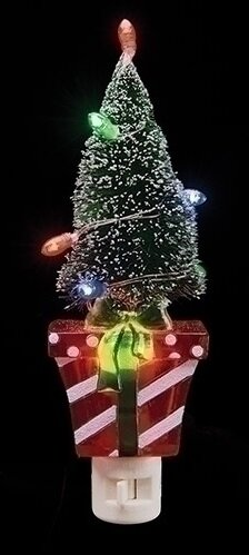Present with Frosted Lighted Tree Decorative Christmas Night Light by Northlight Seasonal