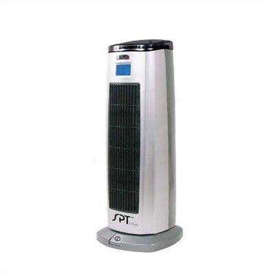 1,500 Watt Portable Electric Fan Tower Heater with Ionizer by Sunpentown